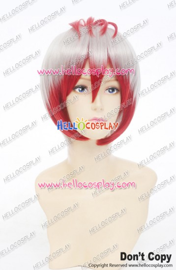 Hōzuki No Reitetsu Cosplay Snapdragon Wig Short Personate Wig White Red