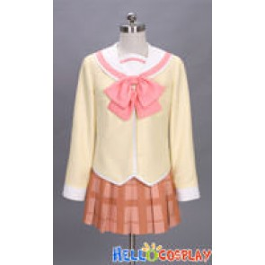 Nichijou Cosplay Yuko Aioi Costume School Girl Uniform