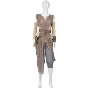 Star Wars The Force Awakens Rey Cosplay Costume New Ver