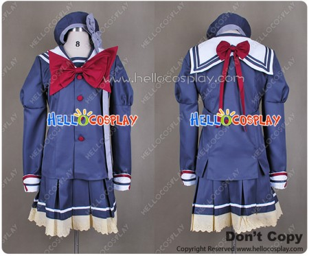 Shuffle Cosplay Costume School Girl Winter Uniform New