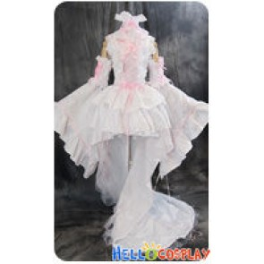 Chobits Cosplay Chi Pink White Formal Dress Costume