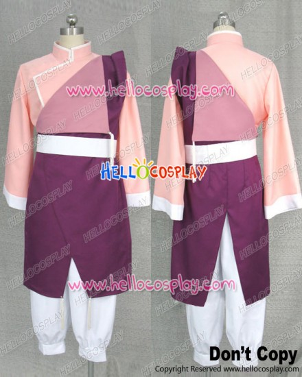 Fullmetal Alchemist Cosplay May Chang Pink Kung Fu Uniform Costume
