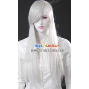 Cosplay White Medium Wig