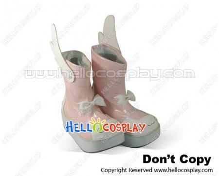 Nurse Witch Komugi Cosplay Shoes Nakahara Boots Pink