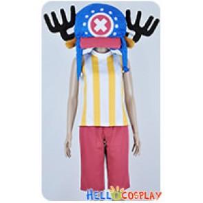 One Piece Cosplay Tony Tony Chopper Yellow Stripes Vest Costume