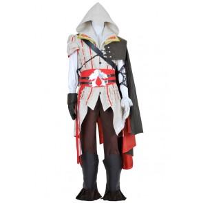 Assassin's Creed II 2 Cosplay Ezio White Uniform Costume Full Set