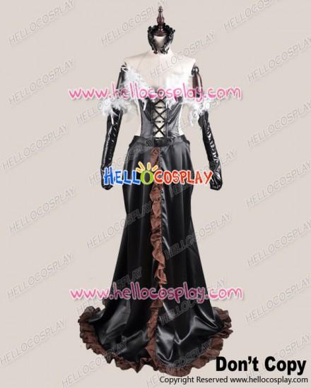 Accel World Cosplay Kuroyukihime Black Snow Princess Lotus Dress Costume