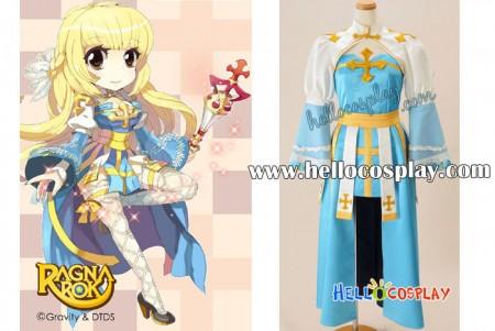 Ragnarok Online Cosplay Arch Bishop Blue Dress