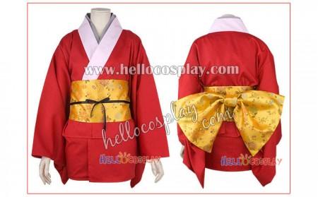 Gintama Cosplay Costume Kagura Kimono Dress