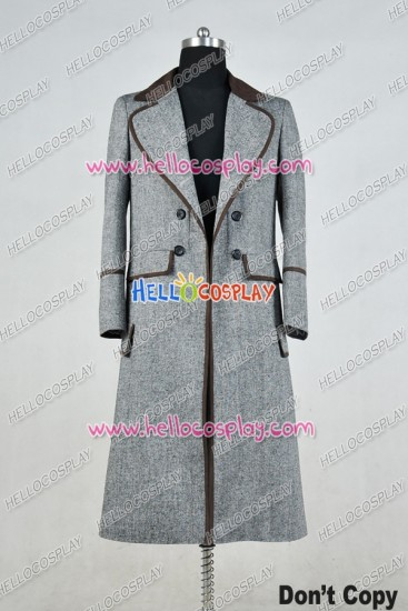 Doctor Who 4th Fourth Dr Tom Baker Cosplay Costume Gray