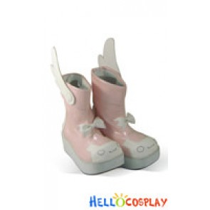Nurse Witch Komugi Cosplay Shoes Nakahara Boots Pink
