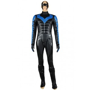 Batman Arkham City Nightwing Cosplay Costume Outfit