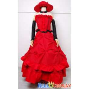 Black Butler Cosplay Madam Red Dress