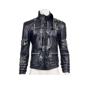Beat It Michael Jackson Cosplay Costume Jacket Coat Leather Version