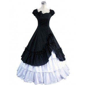 Southern Belle Cotton Evening Gown Black Lolita Dress