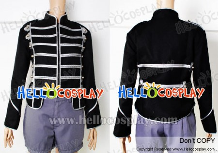 My Chemical Romance Costume Silver Parade Military Jacket