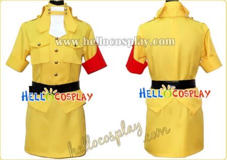 Hellsing Cosplay Seras Victoria Yellow Costume