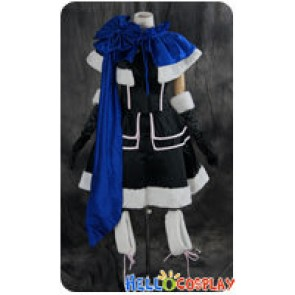 Vocaloid 2 Cosplay Kaito Blue Black Dress Fur Costume