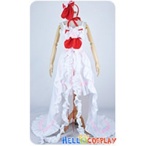 Chobits Cosplay Clamp Chii Elda White Red Dress Costume