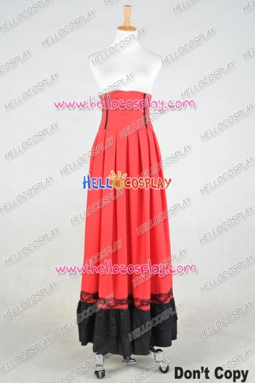 Lolita Dress Victorian Lolita Edwardian Period Pleated Skirt Cosplay Costume