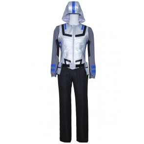 Smallville Victor Stone Cosplay Cyborg Gray Uniform Costume