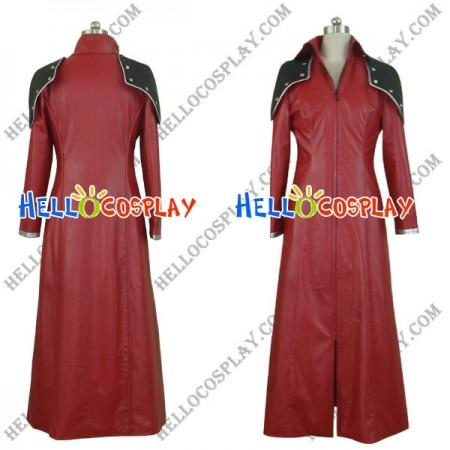 Final Fantasy Genesis Cosplay Costume Red Overcoat