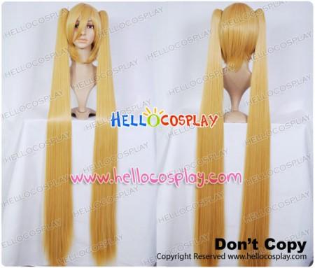 Vocaloid 2 Hatsune Miku Dark Gold Long Cosplay Wig