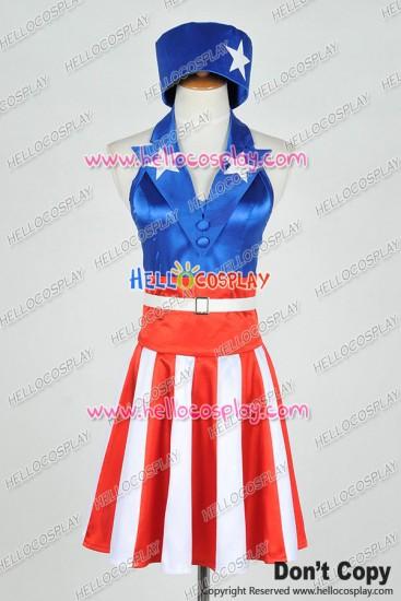 The Avengers Captain America Female Dress Cosplay Costume