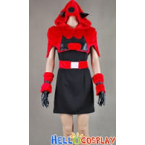 Pokemon Team Magma Gal Cosplay Costume