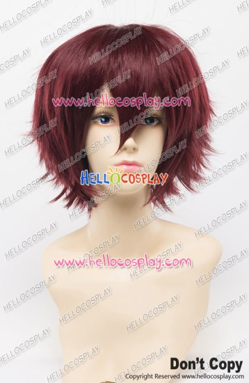 Wig 30CM Cosplay Dull Red Brown Universal Short Layered