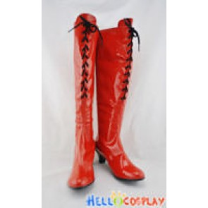 Vocaloid Cosplay Shoes Meiko Sakine Boots Red