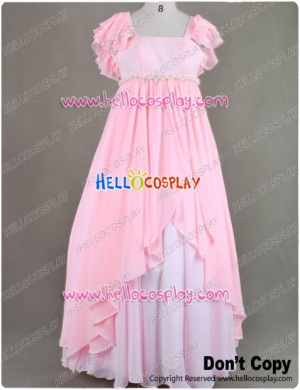 Sailor Moon Chibiusa Cosplay Costume Pink Gown Dress