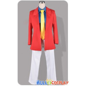 Lupin III The Third 3rd Cosplay Arsène Lupin Costume Red Ver