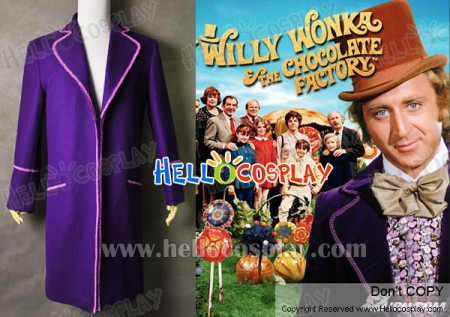 Charlie And The Chocolate Factory Willy Wonka Coat Costume