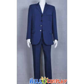 Doctor Costume Blue Strip Suit