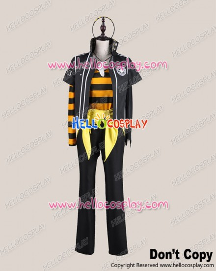 Amnesia Cosplay Toma Costume Black Yellow Stripe Suit