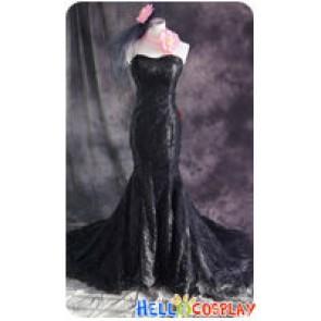 xxxHolic Cosplay Ichihara Yuuko Black Dress Costume