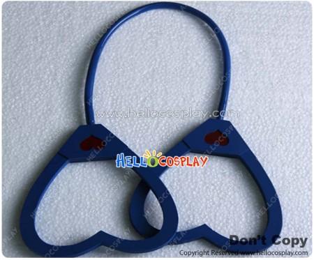 Vocaloid 2 Cosplay Love Philosophy Prop Heart Shaped Handcuffs Dark Blue