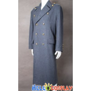 Torchwood Costume Captain Jack Harkness Grey Wool Trench Coat