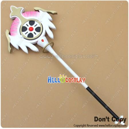 Elsword Cosplay Aisha Angel Magic Wand Hand Staff Stick Weapon