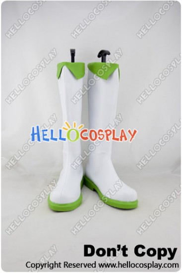 Vocaloid 2 Cosplay Megpoid Gumi White Green Boots