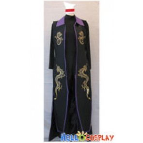 The King Of Fighters KOF 2003 Cosplay DUO LON Costume Purple Collar