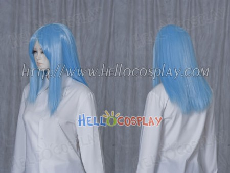 Deep Sky Blue 50cm Cosplay Straight Wig