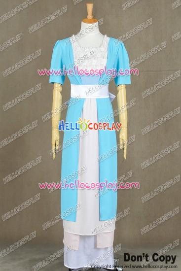Titanic Rose DeWitt Bukater Cosplay Costume Blue Swim Gown Dress