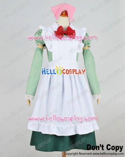 Axis Powers Hetalia APH Cosplay Hungary Maid Dress Costume Pink Headpiece