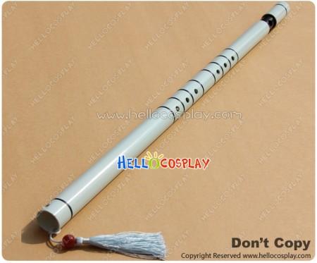Silver Rain Cosplay Kuga Reia White Flute Prop