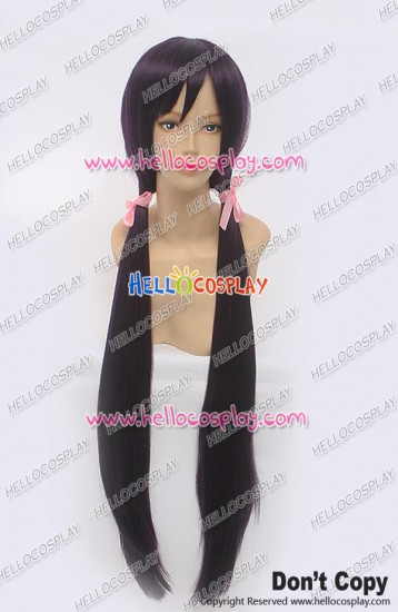 Love Live Cosplay Nozomi Tojo Wig 100CM Straight Long Purple Black