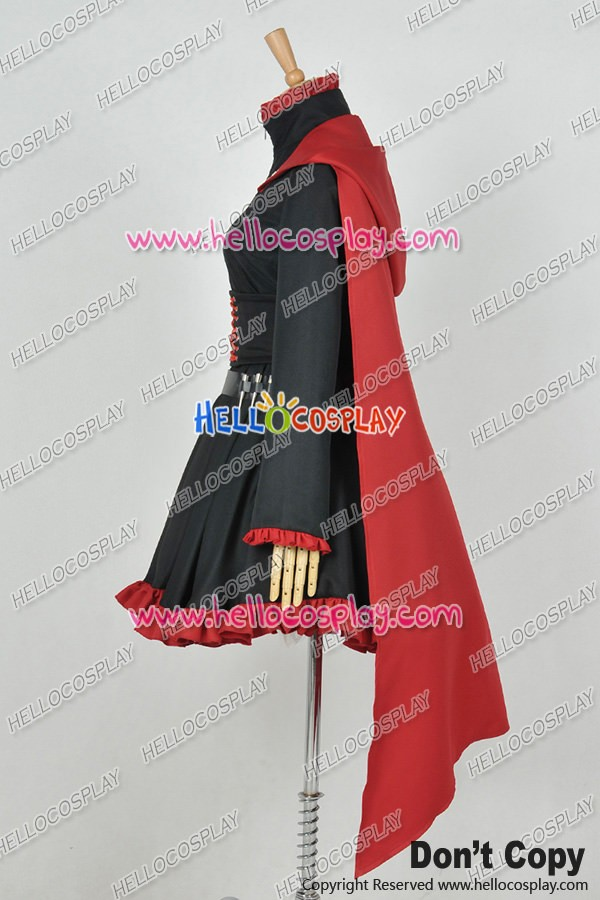 Rwby Cosplay Red Trailer Ruby Rose Gothic Dress Costume Combat Uniform