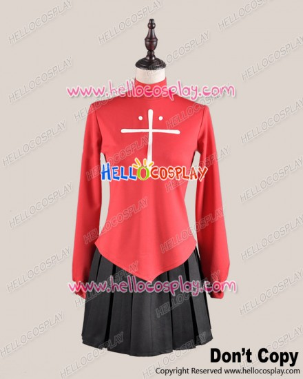 Fate Stay Night Cosplay Rin Tohsaka Uniform Costume