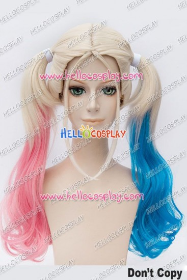Suicide Squad Harley Quinn Cosplay Wig Long Ponytail